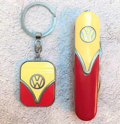 Geschenkset-Schlüsselanhänger-Taschenmesser-rot-beige-Detail-10