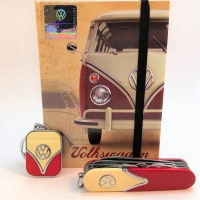 Geschenkset-Schlüsselanhänger-Taschenmesser-rot-beige-Detail-2