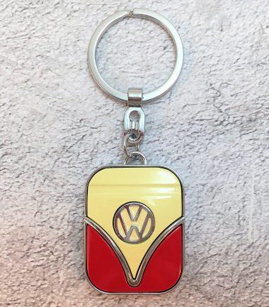 VW-Schlüsselanhänger-Samba-rot-beige-Detail-1
