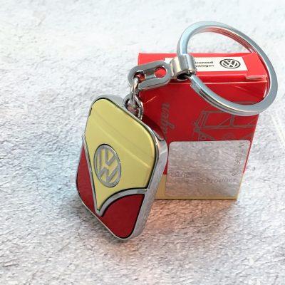 VW-Schlüsselanhänger-Samba-rot-beige-Detail-2