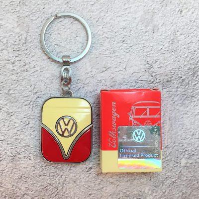 VW-Schlüsselanhänger-Samba-rot-beige