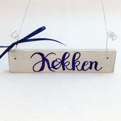 Holzschild-Køkken-4-x-14-cm