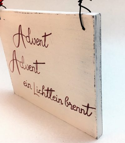 Holzschild-Advent,-Advent,-ein...-Detail-3