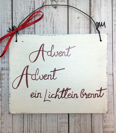 Holzschild-Advent,-Advent,-ein...-Detail-4