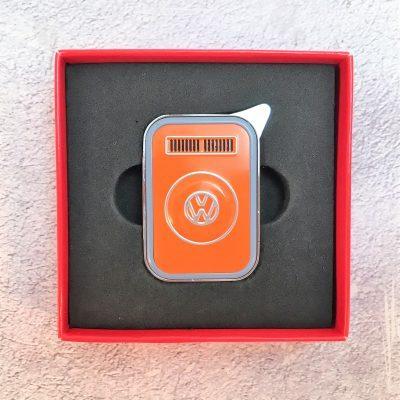 VW-Feuerzeug-T2-orange-grau-Detail-1