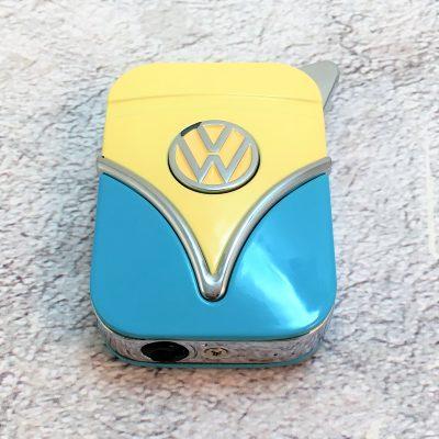 Geschenkset-Feuerzeug-Zigarettenetui-hellblau-beige-Detail-8