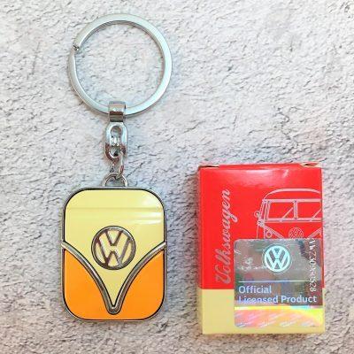 VW-Schlüsselanhänger-Samba-orange-beige-Detail-1