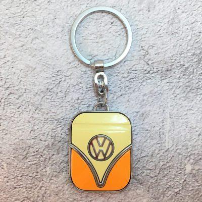 VW-Schlüsselanhänger-Samba-orange-beige-Detail-2