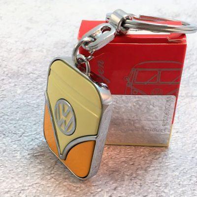 VW-Schlüsselanhänger-Samba-orange-beige