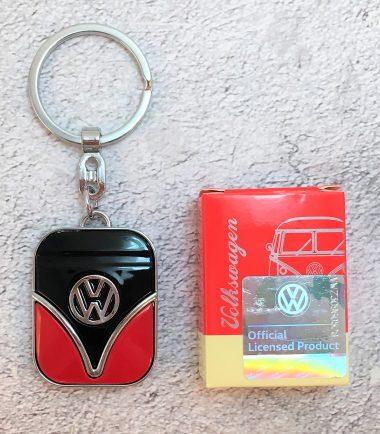 VW-Schlüsselanhänger-Samba-rot-schwarz