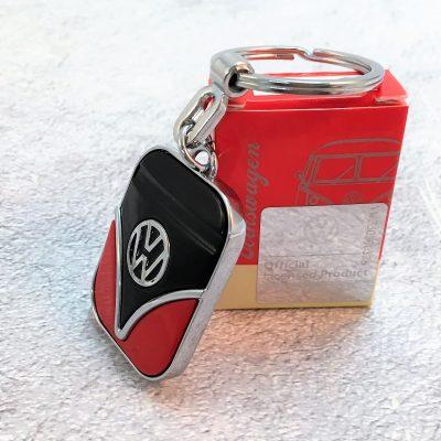 VW-Schlüsselanhänger-Samba-rot-schwarz-Detail-1