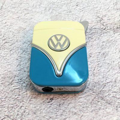 VW-Feuerzeug-Samba-blau-beige-Detail-3