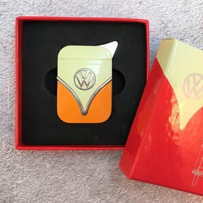 VW-Feuerzeug-Samba-orange-beige