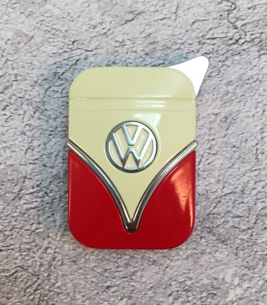 VW-Feuerzeug-Samba-rot-beige-Detail-2