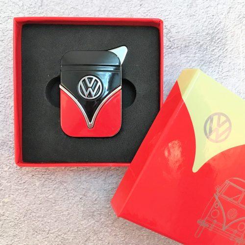 VW-Feuerzeug-Samba-rot-schwarz
