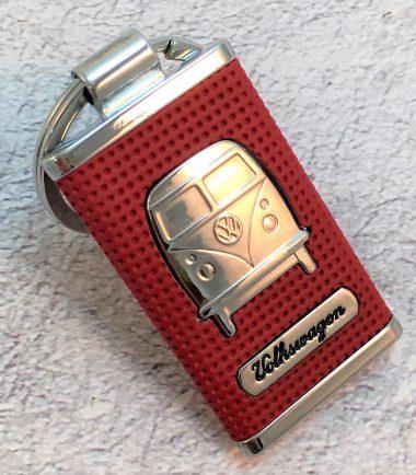 VW-Schlüsselanhänger-Bus-Metall-rot-Detail-4