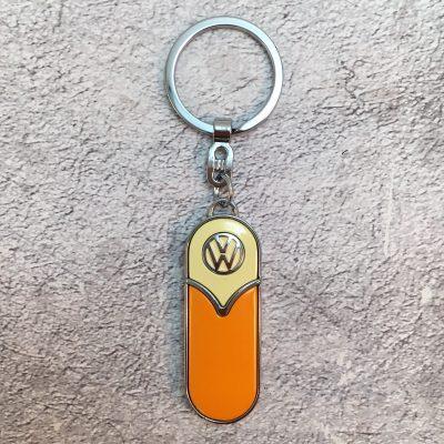 VW-Schlüsselanhänger-Samba-schmal-orange-beige-Detail-4