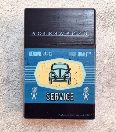 VW-Zigarettenbox-Service-Käfer-blau-hellblau-Detail-1