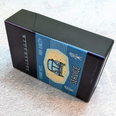VW-Zigarettenbox-Service-Käfer-blau-hellblau