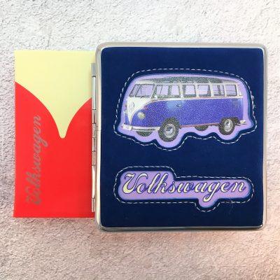 VW-Zigarettenetui-Bus-Kunstleder-blau-Detail-5