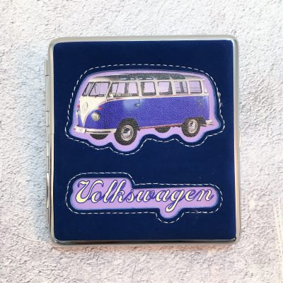 VW-Zigarettenetui-Bus-Kunstleder-blau-Detail-6