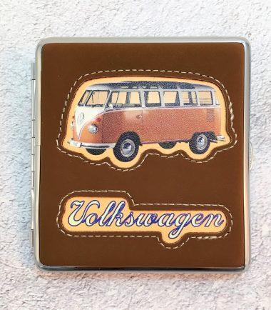 VW-Zigarettenetui-Bus-Kunstleder-braun-Detail-6