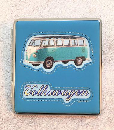 VW-Zigarettenetui-Bus-Kunstleder-hellblau-Detail-6