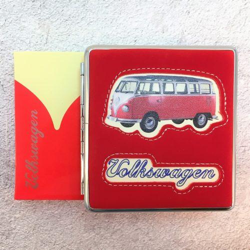 VW-Zigarettenetui-Bus-Kunstleder-rot-Detail-5