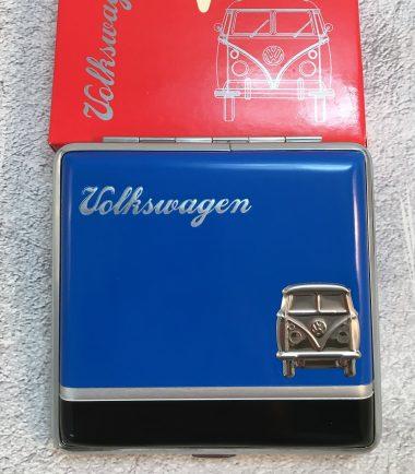 VW-Zigarettenetui-Bus-Metall-blau-schwarz-Detail-9