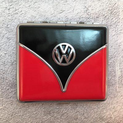 VW-Zigarettenetui-Samba-rot-schwarz-Detail-9