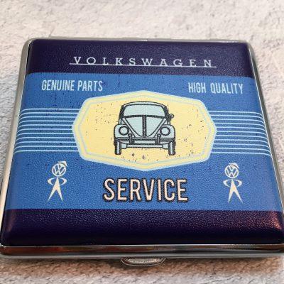 VW-Zigarettenetui-Service-Käfer-blau-hellblau-Detail-3