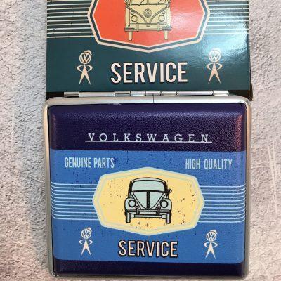 VW-Zigarettenetui-Service-Käfer-blau-hellblau-Detail-4